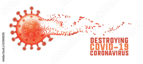 Fotografie, Obraz destrying coronavirus and fading out covid-19 concept