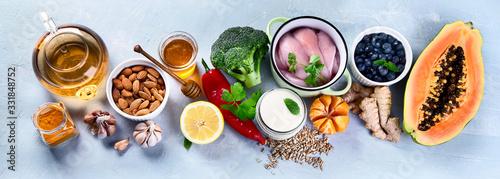 Fototapeta Immune boosting health food selection obraz