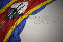 Waving National Flag Of Swazil...