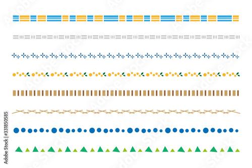 枠 線 装飾 ライン 北欧風 植物 フレーム 素材 AI eps ベクター