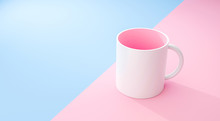 Classic White Mug And Pink Ins...