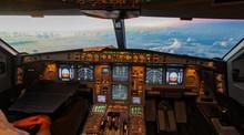 Sunset In The Flightdeck Of Th...