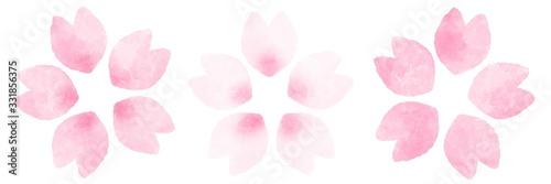 桜の花 バリエーション 水彩風イラスト素材 Canvas Print
