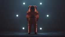 Astronaut In An Orange Space S...