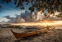 Strand, Sonnenaufgang, Boote, ...
