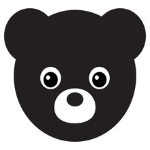 Teddy Bear Plush Toy Flat Vector Icon For Apps And Websites