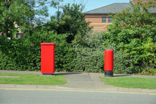 British Red Post Boxes Over Bu...