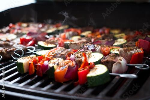 Souflaki, Fleischspieße, Schaschlik grillen