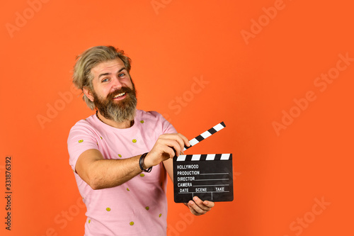 Photo Professional male actor ready for shooting film