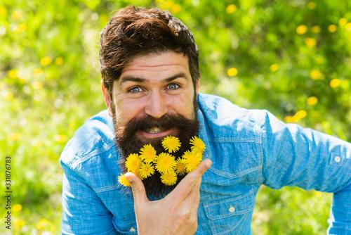 Happy man no allergy Canvas Print