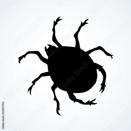 The little mite. Vector doodle symbol Wallpaper Mural