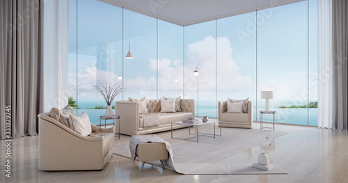Luxury beach house Fototapeta
