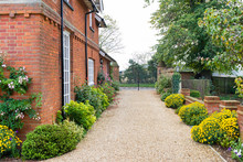 Driveway Of English House And Garden, UK