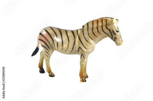 Image of a zebra toy isolated on white background
