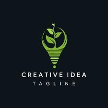Grow Lamp Abstract Modern Logo