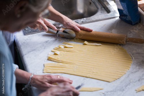 Preparation of Easter cake, also called Pastiera Napoli, typical homemade desser Fototapet