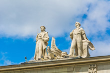 Soviet Neoclassicism - Statues Of A Sailor And Engineer
