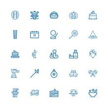 Editable 25 Traditional Icons ...