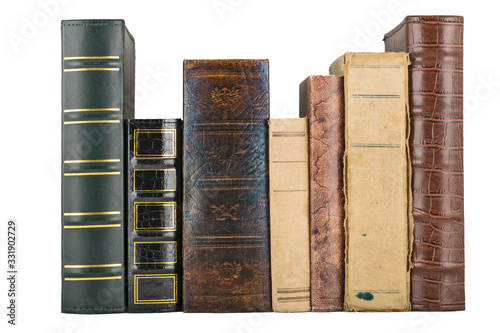 Photo stack of old books