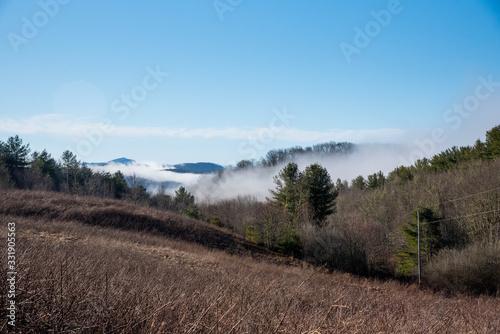 Foggy Mountain Morning views of Appalachian Trail Wallpaper Mural