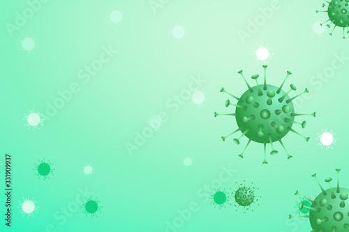 An illustration of the influenza virus cells coronaviruses influenza background Wallpaper Mural