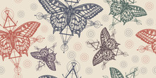 Butterflies. Seamless Pattern....