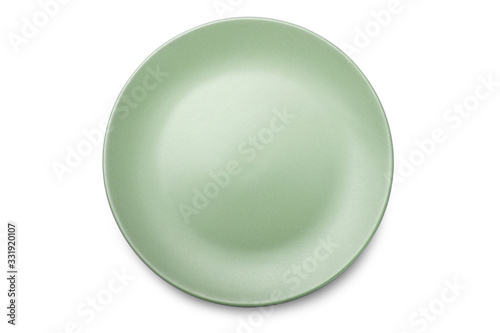 Empty ceramics plate isolated on white background with clipping path Fototapet