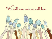 """People Of All Races Around The World Are Recovering From The Coronavirus. Words Of Support: We Will Win, We Will Live! """""""
