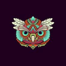 Abstract Owl Ornamental Head I...