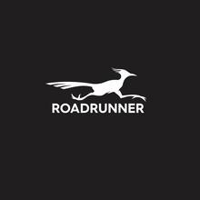 Modern Monochrome Road Runner Logo