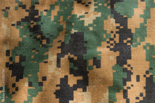 Fototapeta US marine marpat digital camouflage fabric texture background, Nylon, Cotton, Marpat. obraz
