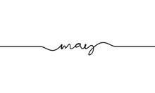 May Word Handwritten Design Ve...