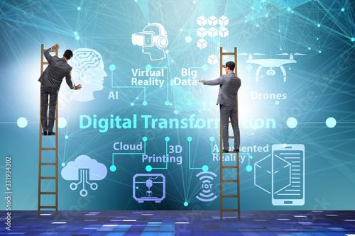 Cuadros en Lienzo Digital transformation and digitalization technology concept