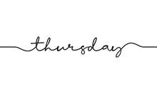 Thursday Word Handwritten Desi...