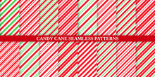 Candy Cane Stripe Pattern. Sea...