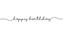 Happy Birthday Word Handwritte...