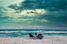 """Stormy Surf Fishing"""