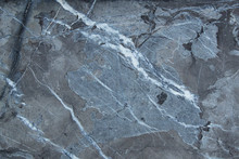 Black Grey Blue Marble Stone Pattern With Cracks, Grunge Cement Wall Texture Background