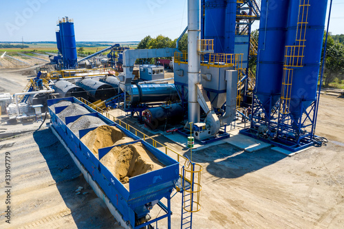 Fotografering Equipment for production of asphalt, cement and concrete