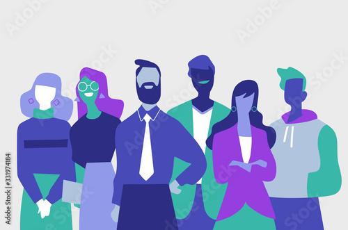 Cuadros en Lienzo Squadra di professionisti di successo fatta di uomini e donne