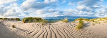 Panoramic View Of Sand Dunes O...