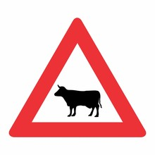 Cattle Traffic Sign