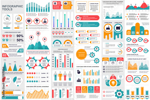 Fotografering Business infographic elements set
