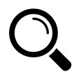 Loupe search vector icon
