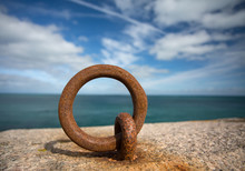 Old Rusty Anchor Ring On Break...