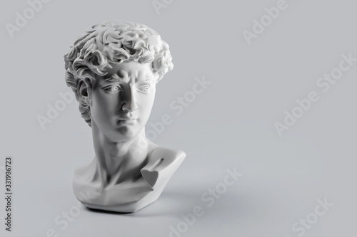 Fotografia Gypsum statue of David's head
