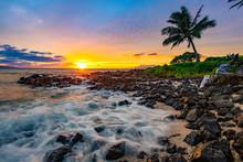 Beautiful Sunset In Maui