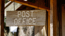 Old Fashioned Wooden Post Offi...