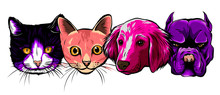 Seamless Doodle Dogs And Cats ...