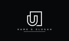 U ,UU Letter Logo Design With Creative Modern Trendy Typography